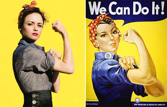 Leanne (Dublin): How To Get A Rockabilly/Rosie the Riveter Hair Style!