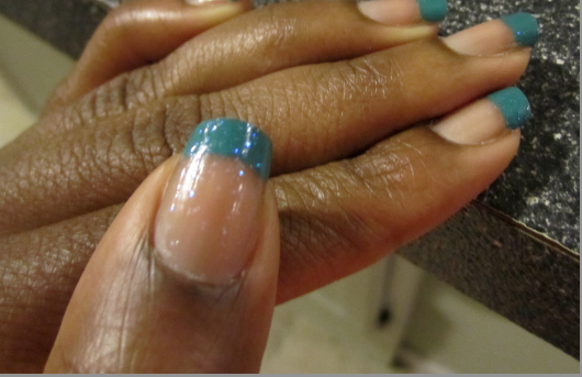 Do It Yourself Nail Art// Colors: Fairy Teal + Ice Ice Baby