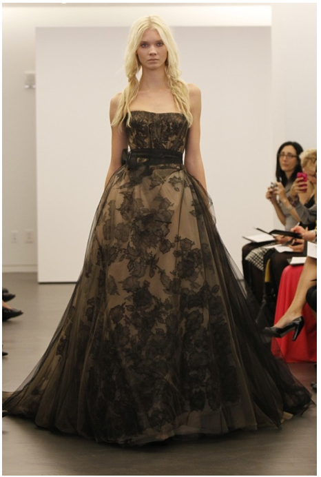 Belgium, LisaH// Vera Wang--Black Wedding Gowns. Is this the next trend?