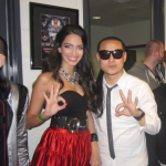 Jessica with Members of The Far East Movement