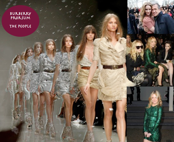 London Fashion Week: Stylish celebrities at the Burberry Prorsum fashion show