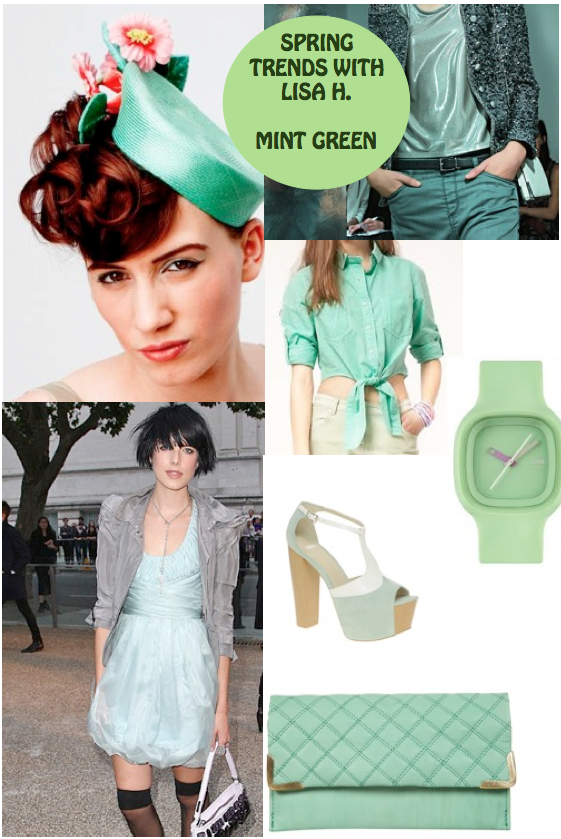 Trend Spotting with Belgium's Lisa H// Shopping guide : Mint green