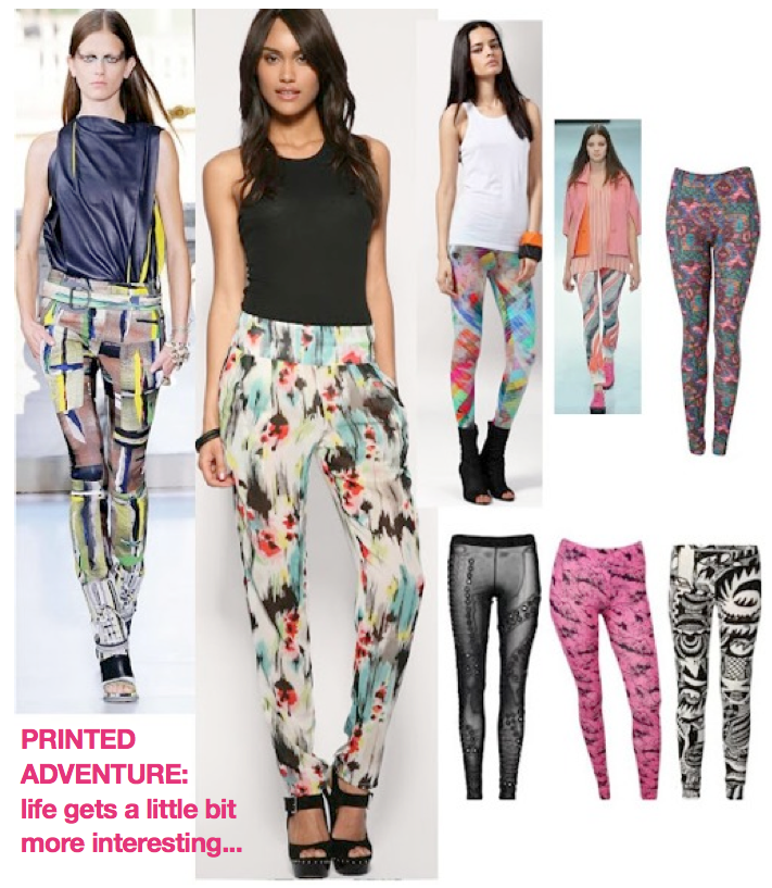 Trend Alert with VIV of NYC: TREND ALERT- PRINTED LEGGINGS