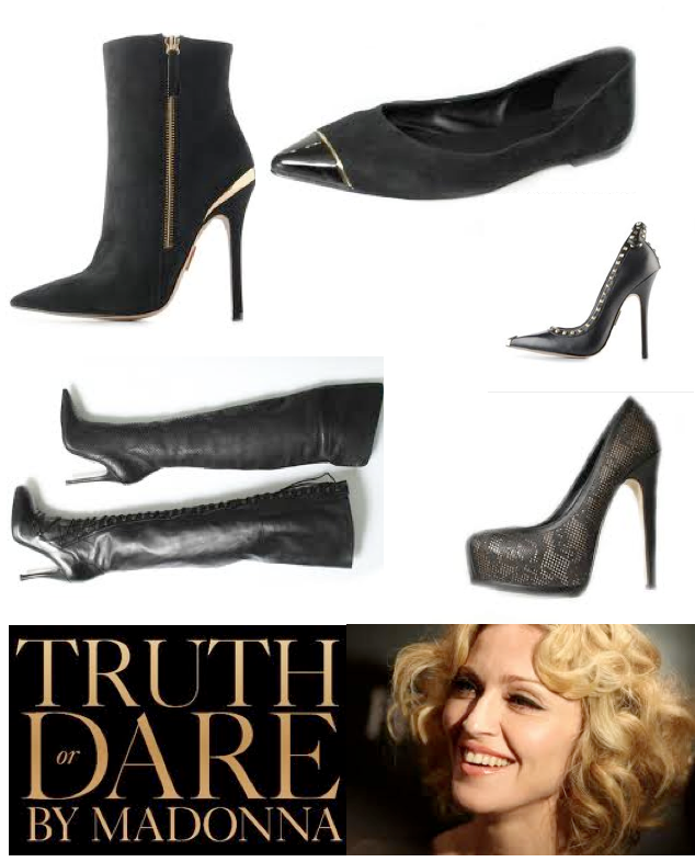 Celeb Update with Lisa H of Belgium: 'Truth or dare' shoe line by Madonna