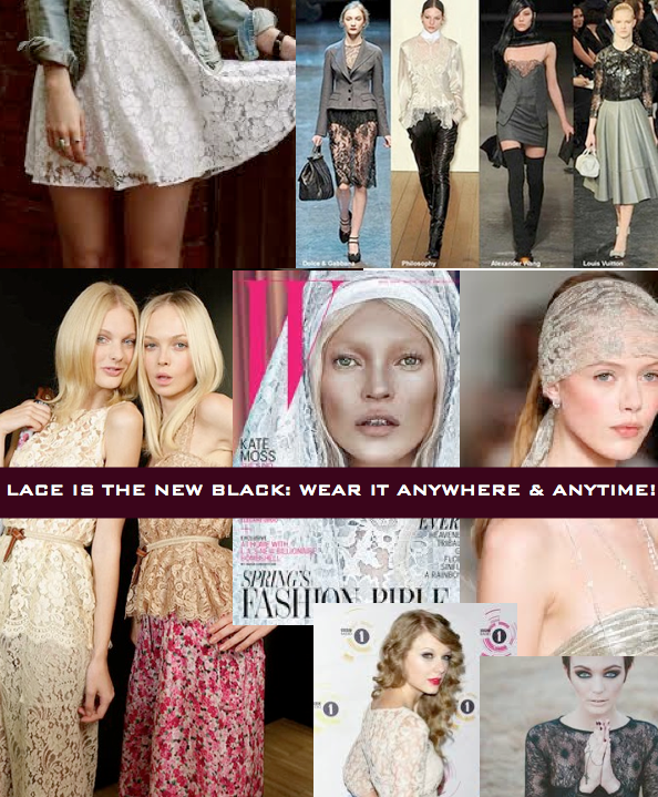 Belgium, LisaH.//The Lace Trend : After the Runway--Now in the stores! Lace it Up!