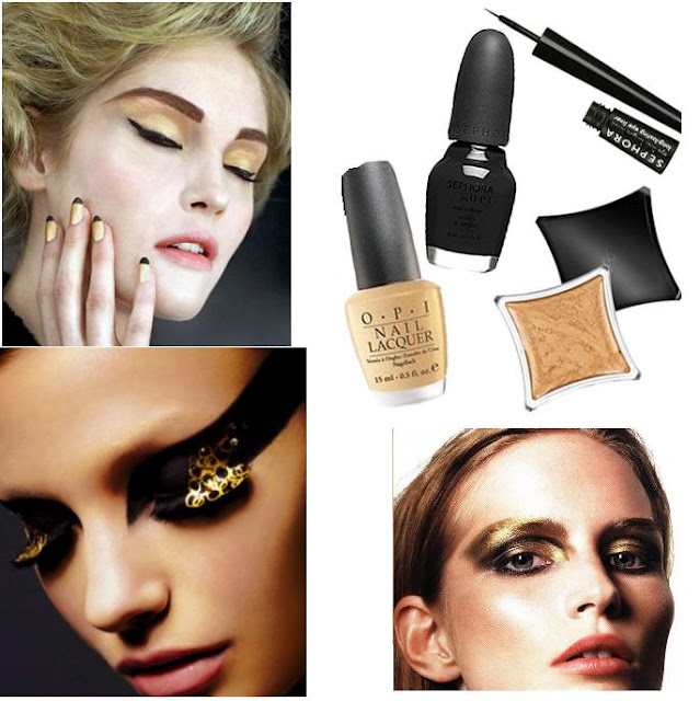VIV:Nail Tip: Easy Way To Use Black & Gold Trend + 06/19: Hot Fashion Event & Concert in Los Angeles Tomorrow