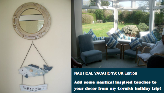 UK, Ella// Be inspired by Cornish nautical interior design and beach fashion! (Fashionable Vacation Series)