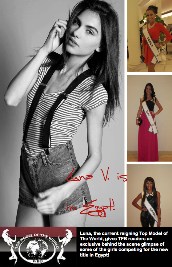 Luna Voce// EGYPT: Exclusive Peek at Contestants of Miss Top Model of the World