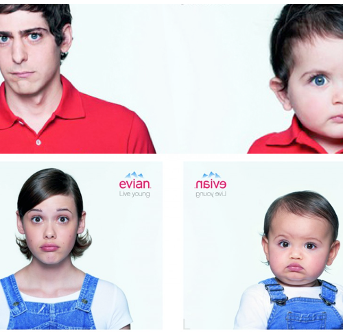 Mini Me Fashion: Shrink Your Outfit with Evian's New App + Their Baby & Me Video Campaign