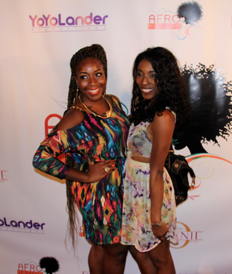 Miss Dunnie O (Event and PR Extraordinaire) and I on the red carpet!