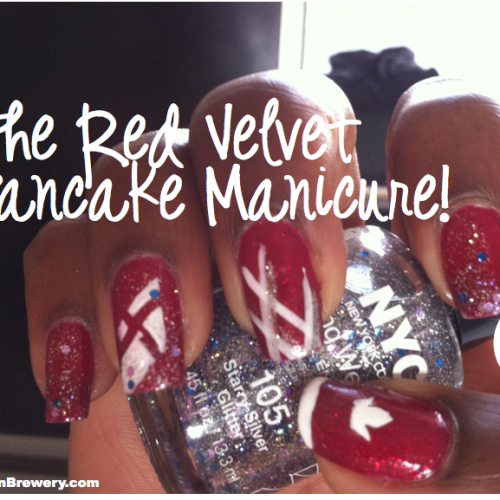 The Red Velvet Pancake Hotel Shangri-LA x Buttermilk Truck DIY Mani!