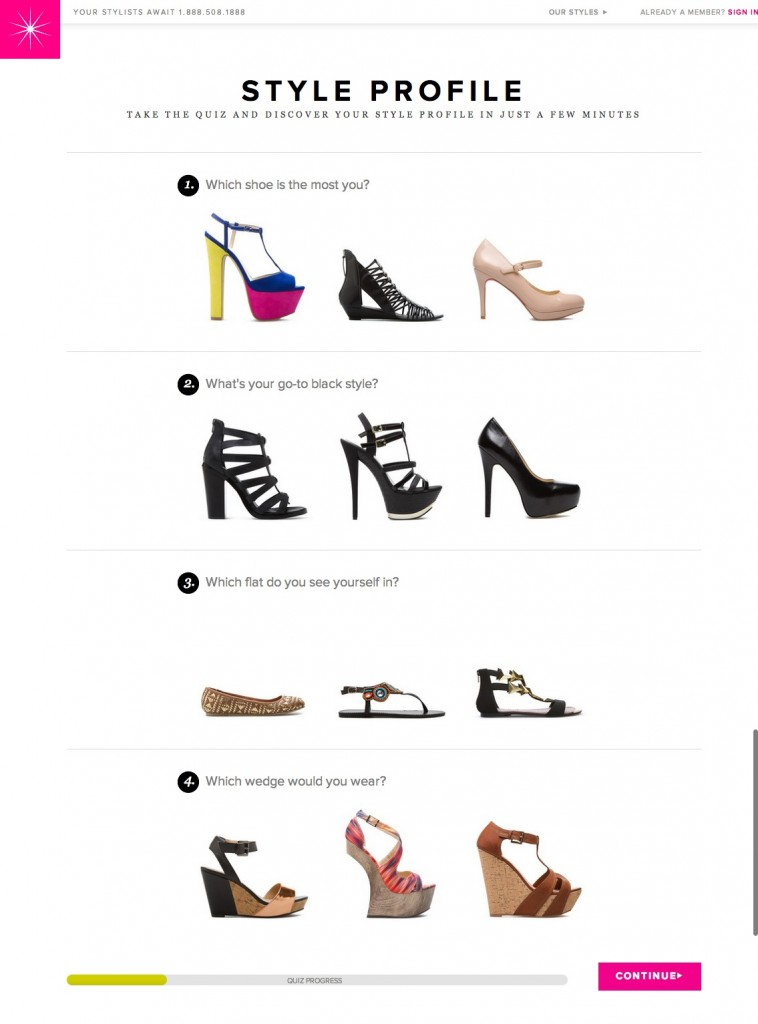 shoedazzle-quiz-step-1