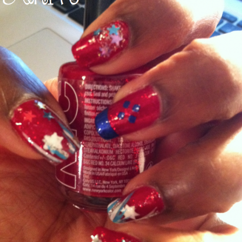 Red White & Blue on Your Nails (July 4th & July 26th DIY Nail Sampler)