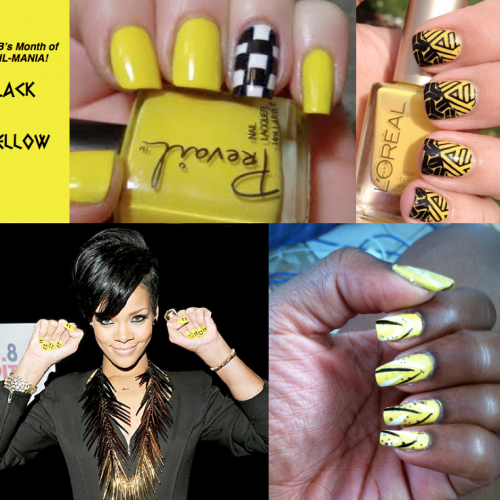 Nail that Look! BLACK & YELLOW: Wild Thing... Electric Animal