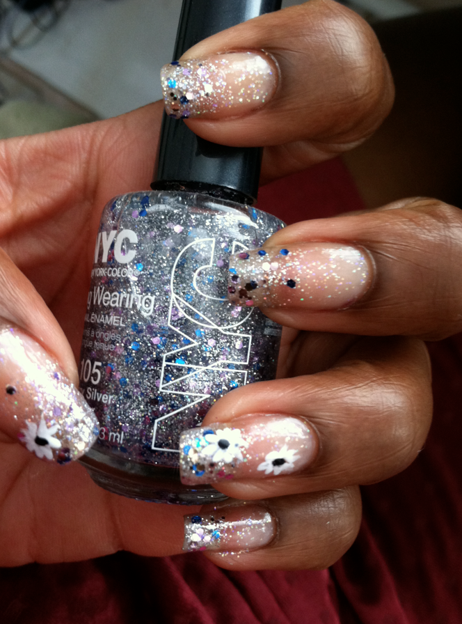 thefashionbrewery.com nail design fairy flower dust 2