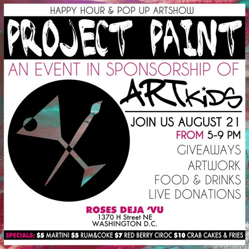 Project Paint in DC! Join Fashion Blogger Posh Mumsy and Artist Julian Starks for Charity Happy Hour