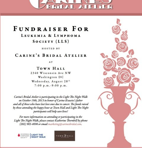 DC: The 28th! Happy Hour for The Leukemia & Lymphoma Society hosted by Carine's Bridal Atelier