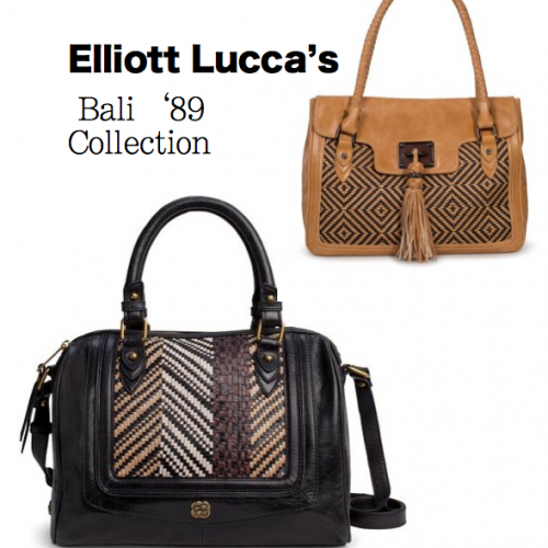 Get Beautiful with Bali-inspired handbags from the Elliott Lucca's Bali '89 Collection