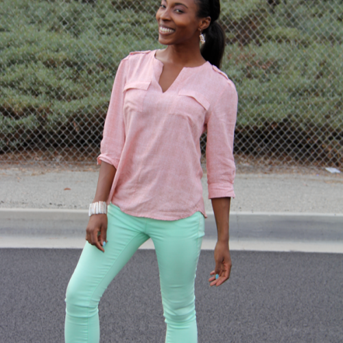 Pink and Green: Casual & Girly