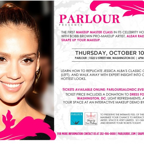 Charity x Fashion in DC// Celebrity Makeup Master Class on Oct. 10th! (Proceeds go to Dress for Success Charity)