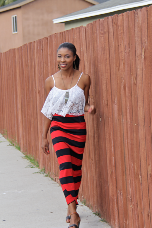 liberian model preppy nautical fashion blogger african  4