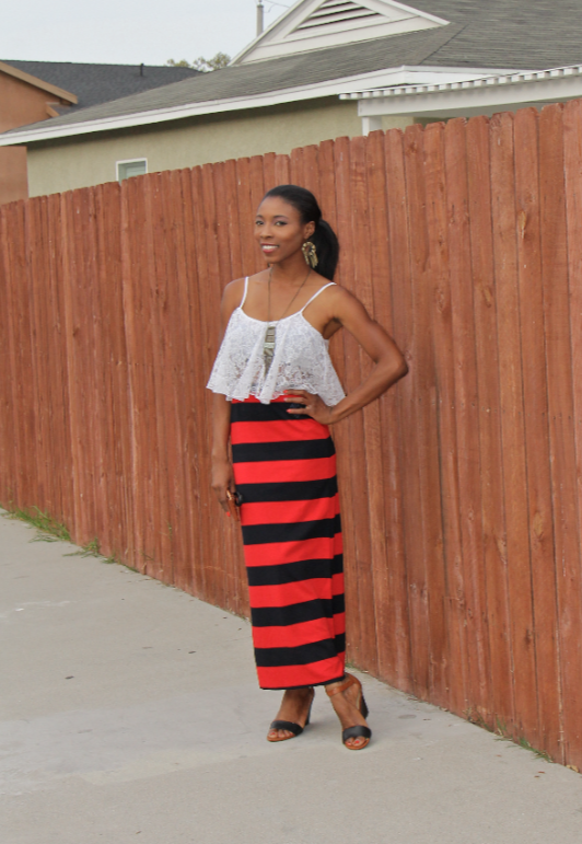 liberian model preppy nautical fashion blogger african  6