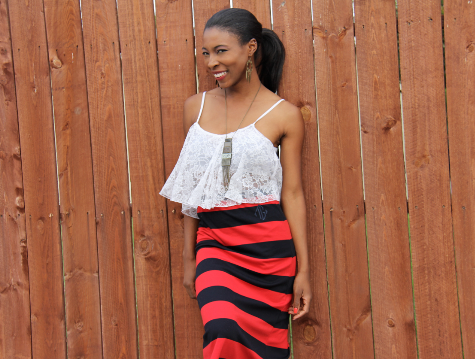 liberian model preppy nautical fashion blogger african  7