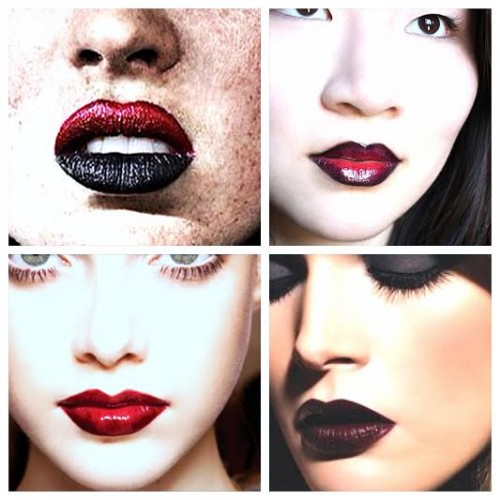 FALL 2014 LIPSTICK TREND: BLACK + RED LIP DUO with NYC's Venus Loves Virgo